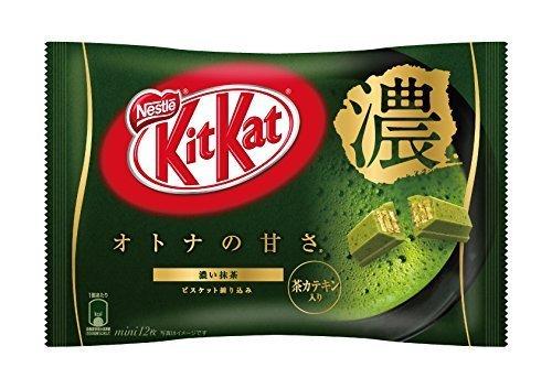Nestle Japan Kit Kat Mini Matcha strong Green Tea 12-bar (Mini Green Tea Mochi)