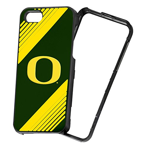 NCAA 2-Piece Snap-On iPhone 5/5S Polycarbonate Case - Retail Packaging - Oregon Ducks ()