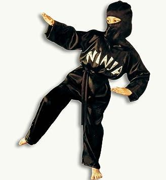 Costume de ninja pour enfant taille 140 (noir): Amazon.es ...