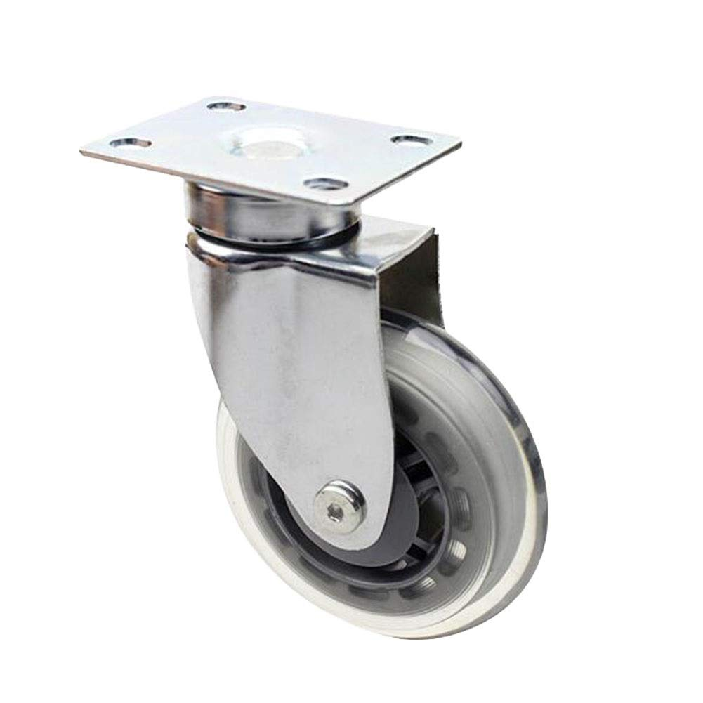 wheel 4X-Flat Universal Casters Smooth and Silent Suitable for Furniture Casters Nylon Material with Brakes