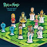 The Op Games Rick and Morty Collector's Chess Set | Collectible 32 Custom Sculpted Chess Pieces Adult Swim Rick and Morty Good and Evil Characters | Officially Licensed Rick and Morty Chess Set