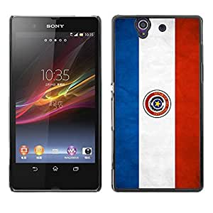 Shell-Star ( National Flag Series-Paraguay ) Snap On Hard Protective Case For SONY Xperia Z / L36H / C6602 / C6603 / C6606