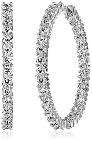 "Roberto Coin Perfect Diamond Hoops"" 18k White Gold Earrin..."