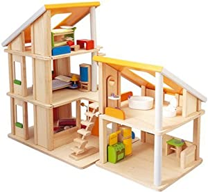 Amazon com  Plan Toy Chalet Doll House   Furniture  Toys  amp  GamesPlan Toy Chalet Doll House   Furniture