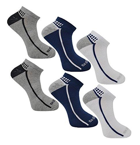 Skechers Mens Chaussettes, Chaussures De Sport Doublure (6 Paires Asst) Couleur 1