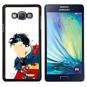 Qstar Arte & diseño plástico duro Fundas Cover Cubre Hard Case Cover para Samsung Galaxy A7 A7000 (Super Man Arte)
