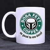 Top Boba Fett's Coffee Coffee Mug or Tea Cup,Ceramic Material Mugs,White - 11oz