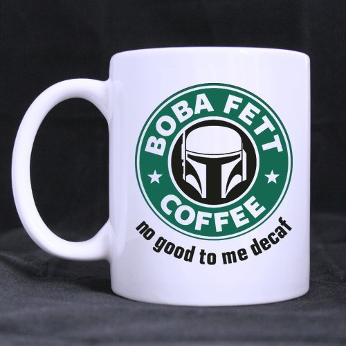 Top Boba Fett's Coffee Coffee Mug or Tea Cup,Ceramic Material Mugs,White - 11oz