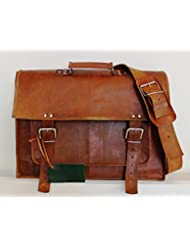 handolederco 18 Leather Messenger Bag for unisex Leather Laptop Bag Shoulder Bag