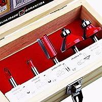 Jogo de Fresas para Tupia 5Pçs Vermelha 684859 Lee Tools
