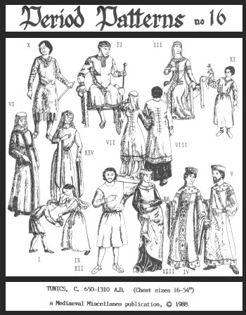 Long and Short Medieval Tunics Pattern by Period Patterns