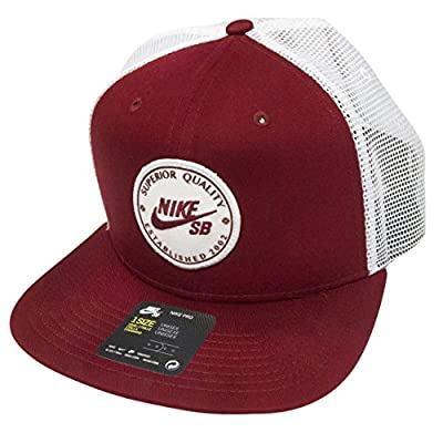 NIKE Unisex SB Patch Trucker Hat, Red, OneSize