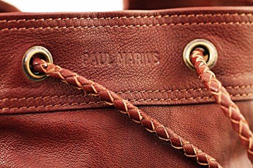 Vintage Stile Pelle A In Flâneur Secchiello Nappe Marrone Paul Le Marius Medio Con Borsa w4PAgfvq