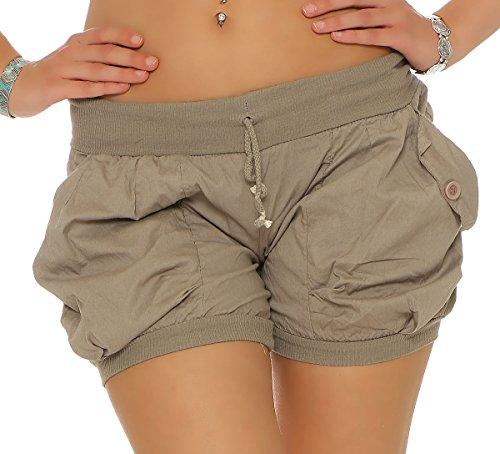 Pantaloni elastic con Colore in 6087 dei Fango Cintura Pantaloncini Donna malito Universal tw8XwI