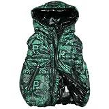 SOPO Hooded Zip Up Vest Jacket 3-7Y Outerwear Toddler Boys Girls Kid Winter Coat