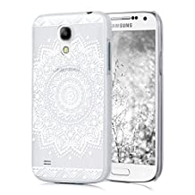 kwmobile Crystal Case for Samsung Galaxy S4 Mini with Design Flowers - transparent Protection Case Cover clear in White Transparent