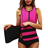 Sakyaw Neoprene Waist Trainer Elastic Corset 2018 New Design Adjustable with Zipper for Women Vest Hourglass Comfort for Weight Loss Kit Gym Sweat Most Popular Slimming Body Shaper Hot Shapers (XL) Review