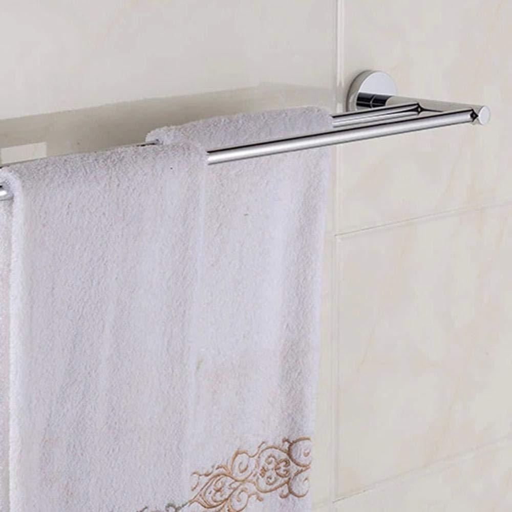 Ambiguity Toallero,bantilde;o de Pared de de de latoacute;n Plata Doble toallero Estante Espesado Estante Base Almacenamiento Carril 4a713f