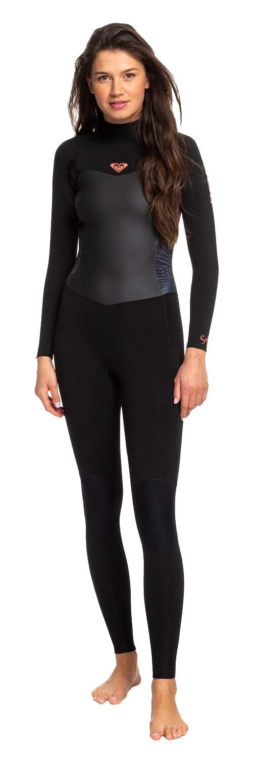 Roxy 3/2 Syncro Back-Zip GBS Wetsuit - Women's Black/Gun Metal, 16 by Roxy