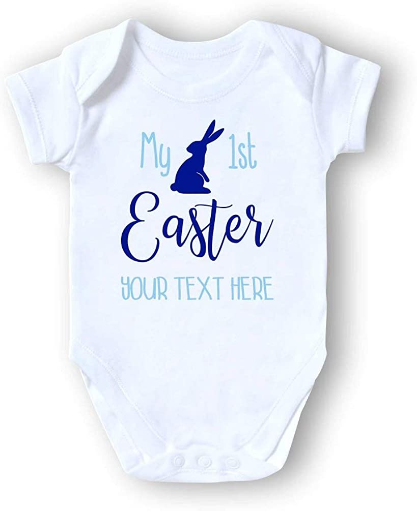 Personalised My First 1st Easter Baby Grow Bunny Bodysuit Fun Vest Babygrow Gift