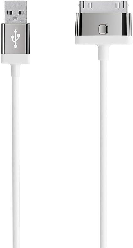 Belkin F8J041cw2m-WHT - Cable de carga y sincronización para dispositivos Apple (USB, certificado MFi) color blanco