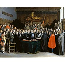 Oil Painting 'Gerard Ter Borch The Ratification Of The Treaty Of Mnster ' Printing On Polyster Canvas , 12 X 15 Inch / 30 X 39 Cm ,the Best Bathroom Decoration And Home Artwork And Gifts Is This Amazing Art Decorative Prints On Canvas