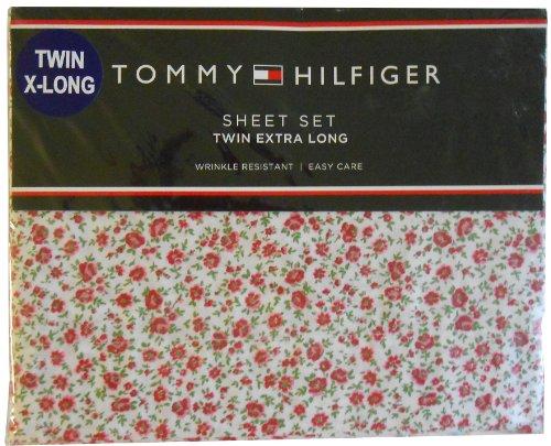 Tommy Hilfiger Twin XL Sheet Set Princeton Rose
