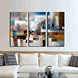 ARTLAND Hand Painted 32x48-inch 'Change' 3-piece Gallery-wrapped Canvas Wall Art Set