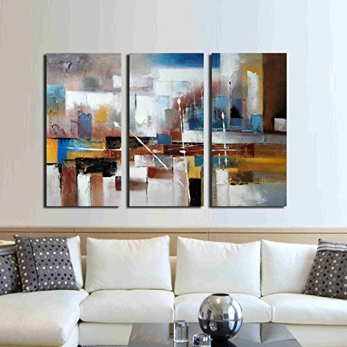 ARTLAND Hand Painted 32x48-inch 'Change' 3-piece Gallery-wrapped Canvas Wall Art Set by ARTLAND