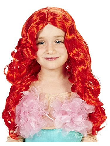 Red Mermaid Child Wig -