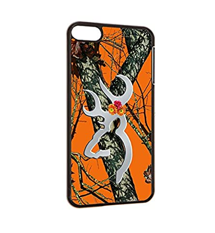 iPod Touch 6 Orange Real Tree Case Browning Deer Orange Camo Oak Design for iPod Touch 6 Case(Black Hard (Real Tree Camo Case For Ipod 5)