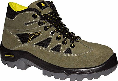 Delta plus calzado - Bota serraje aterciopelado mesh suela poliuretano 2d 45 verde/negro