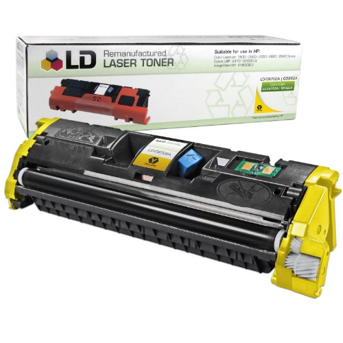 LD Remanufactured Replacement Laser Toner Cartridge for Hewlett Packard C9702A (HP 121A) Yellow - C9702a Yellow Cartridge