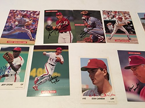 16 PHILADELPHIA PHILLIES AUTOGRAPHED BASEBALL PHOTOS 1970S AND (Dickie Thon Baseball)