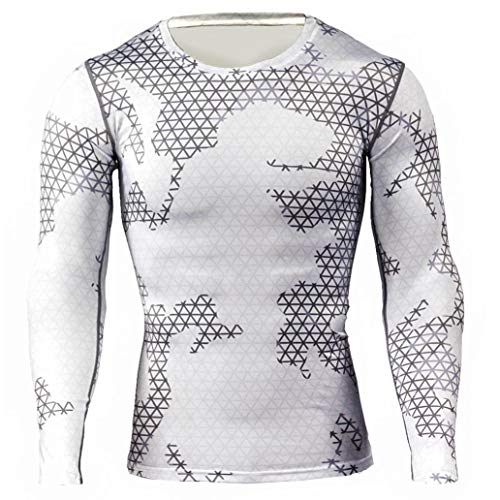 kaifongfu Running Tops,Camouflage Tights Men Quick-Drying Top Long Sleeve Breathable Muscle (Acne Jeans Dress)