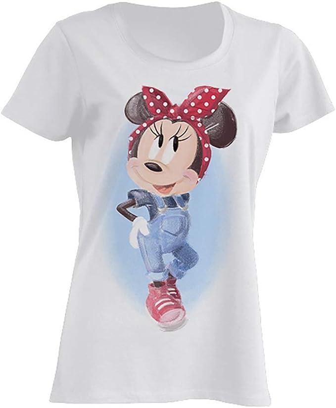 Disney Minnie Mouse Pin Up Camiseta Mujer: Amazon.es: Ropa y accesorios