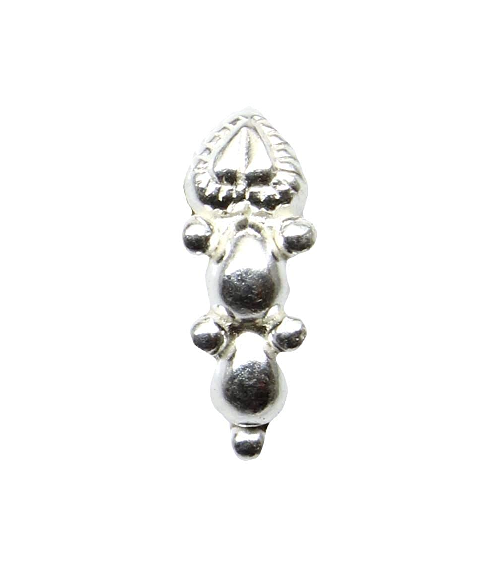Sterling Silver nose stud Body Piercing Jewelry Indian Nose ring Push Pin
