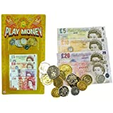 2 Packs Of childrens play money English notes and coins bulk pack by Henbrandt