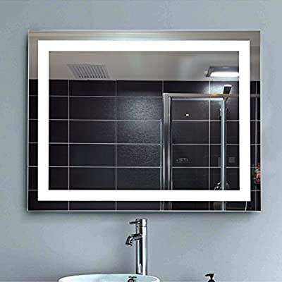 NEUTYPE Bathroom LED Backlit Mirror Vanity Sink Mirror With Anti-fog Function - Horizontally and Vertically Wall-mounted, Perfect for Home Use or Hotel Supplies