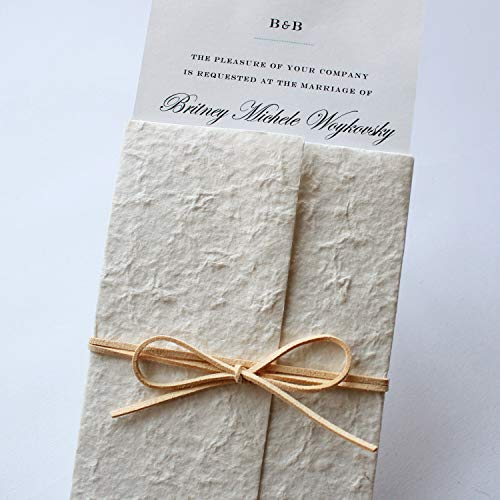 Picky Bride Old-Age White Wedding Invitation, Vintage Invitations for Unique Wedding Theme Rustic Wedding Invitations with Envelopes - Set of 50 -