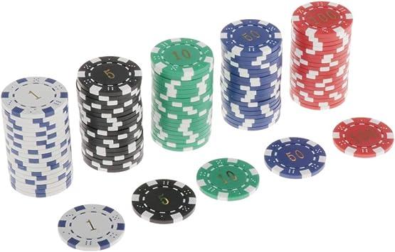 non-brand Lotes 100 Fichas Texas Holdem Poker Chip 11.5g Juego de Mesa de Casino Token 4cm: Amazon.es: Juguetes y juegos