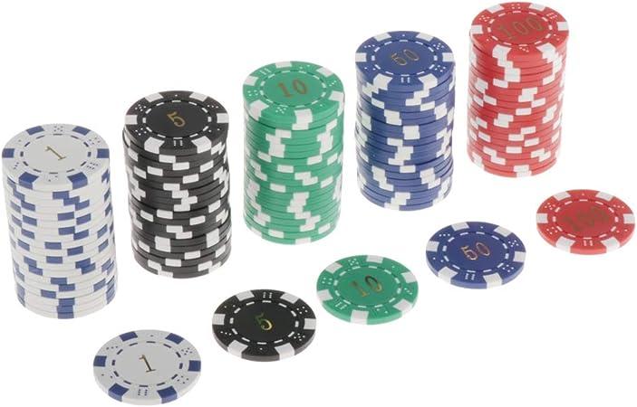 non-brand Lotes 100 Fichas Texas Holdem Poker Chip 11.5g Juego de ...