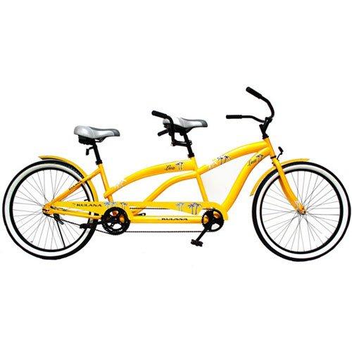 "26"" Tandem Bike, Yellow, Hi-ten frame, oversized fork, conve"