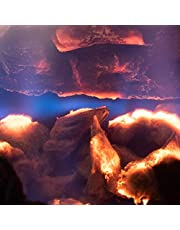 Natural Glo Glowing Embers for Gas Fireplace | Mineral Wool Gas Log Embers to Enhance Gas Fireplaces. Rock Wool Fake Coals for Gas Fireplaces | Embers Glowing for Use with Gas Fireplace Logs