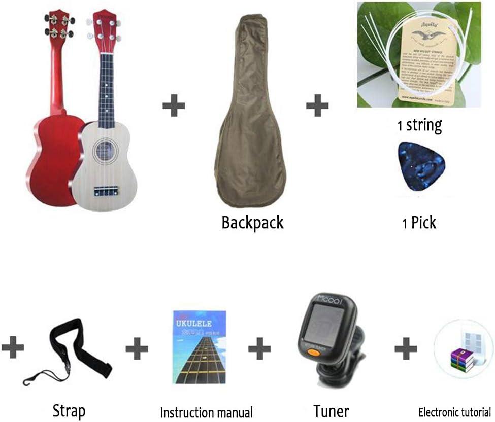 LCDY Ukulele Guitarra de 21 Pulgadas Entrada De Ukelele para ...