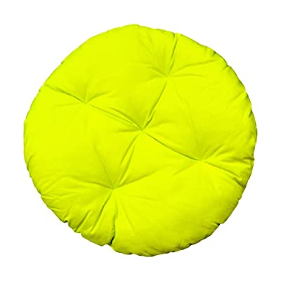 "DBM IMPORTS Round Indoor/Outdoor 33"" Neon Yellow Soft Replacement Swing Chair Cushion Pillow Papasan Pad Seat Cover for Egg Wicker Swing Chair : Garden & Outdoor"