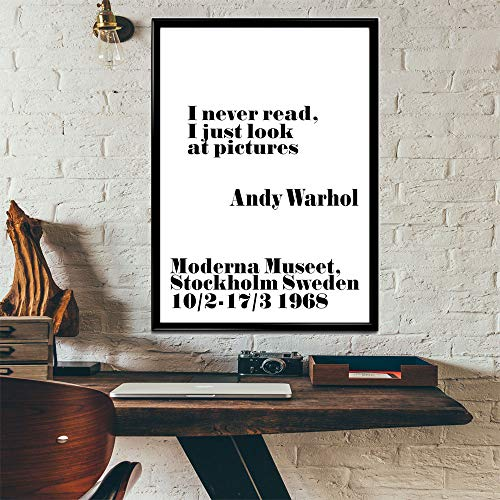 I Never Read Poster Andy Warhol Poster Pop Art Poster Andy Warhol Print Warhol Decor Warhol Wall Art (12 x 16)