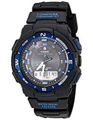 Casio Men's SGW500H-2BV Black Resin Analog Digital Twin Sensor Multi-Function Watch