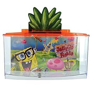 Penn plax spongebob betta goldfish fish tank for Spongebob fish tank accessories