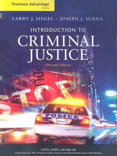 Introduction to Criminal Justice (Thomson Advantage Books)